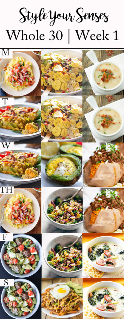Whole 30 meal plan ideas plus why I chose this lifestyle change