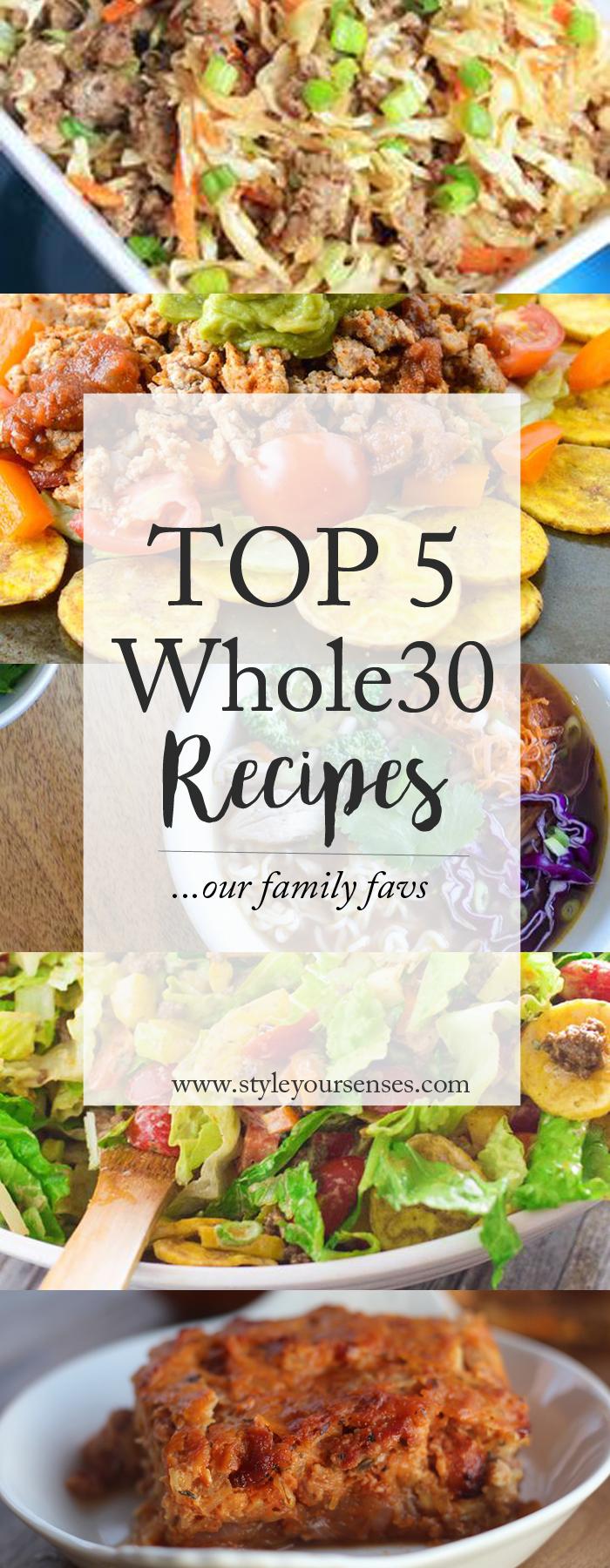Whole30 Favorite Recipes