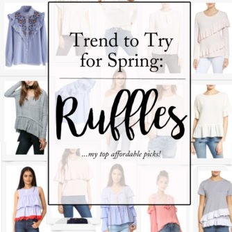 Ruffled Tops for Spring are a must try trend!
