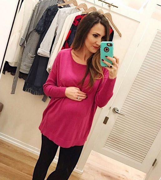 Cute pink swing tunic, great for busy moms