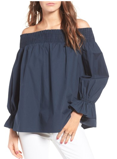 off the shoulder bow back top