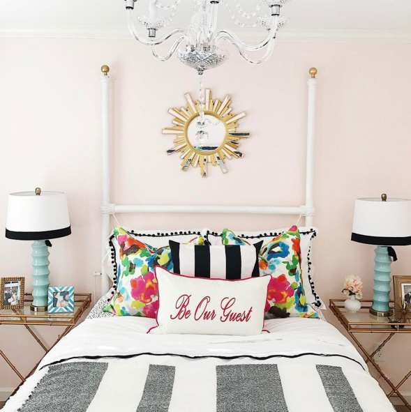 Bright and colorful guest room by Style Your Senses
