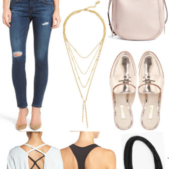 Style Board Series | Vol. 1: Week 4 // Blush + Metallic and Carpool Chic