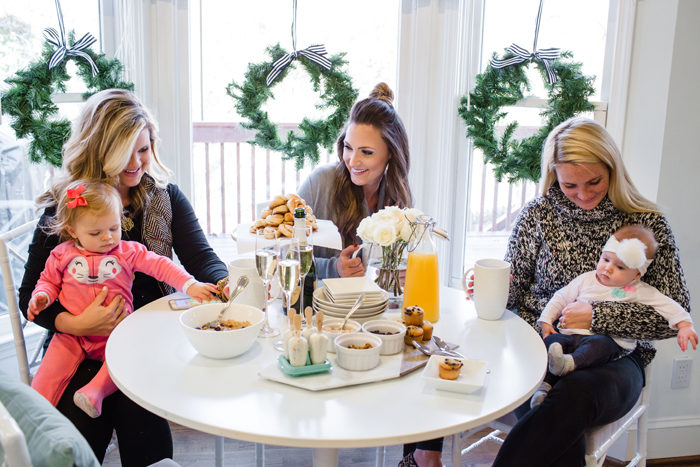 Host a casual brunch playdate for mommies and babies