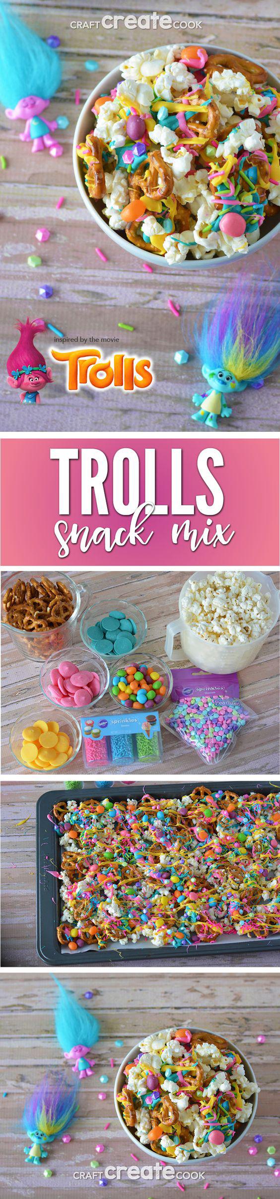 trolls snack mix