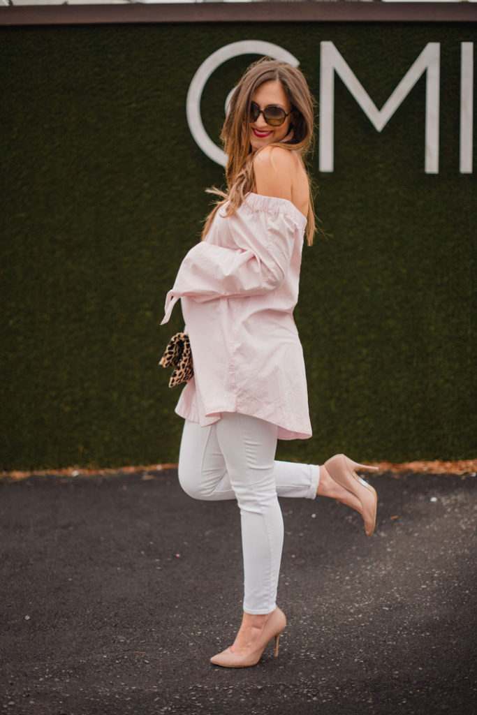Free People off the shoulder top + the best date night ideas!