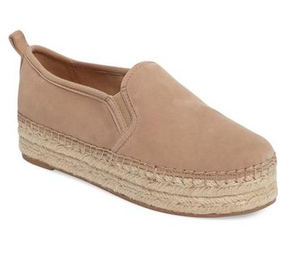 Flatform espadrille shoes