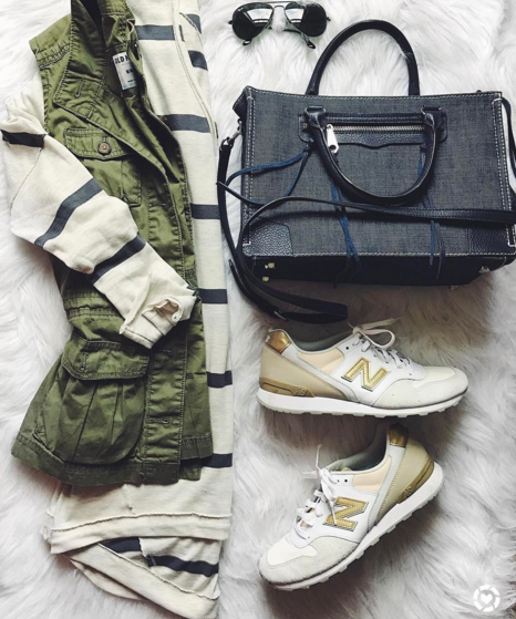 casual outfit flatlay