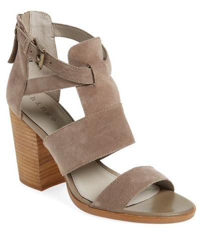 Suede Block Heel Sandals