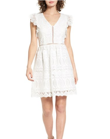 This white lace dress is perfect for Easter