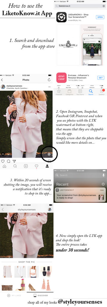 How to use the liketoknow.it app to make shopping social media super easy!