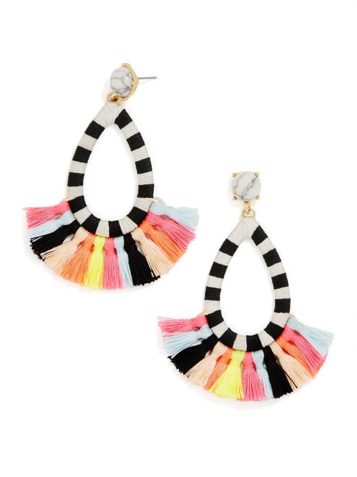 multicolored tassel earrings
