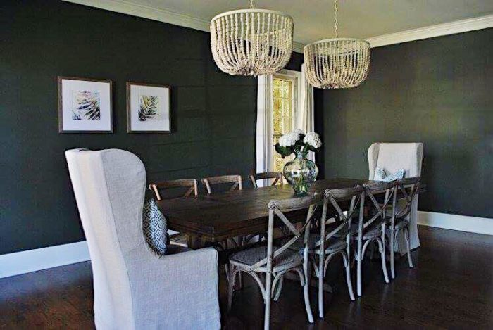 Beautiful rustic chic dining room