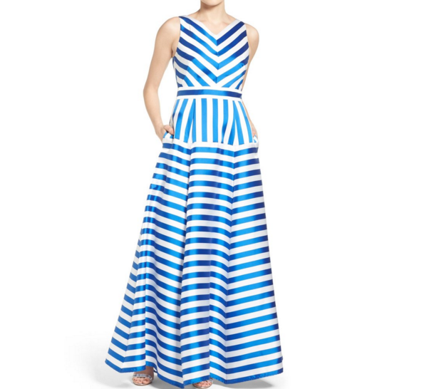 Striped Spring Ball Gown