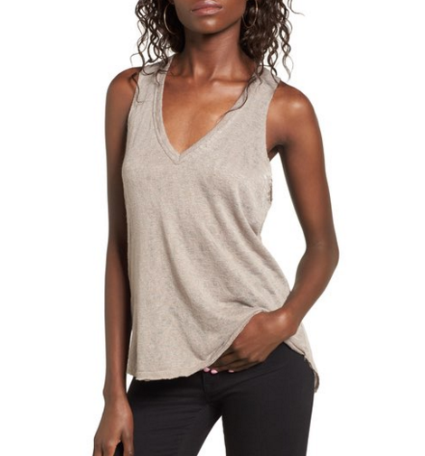 Burnout V Neck Tank