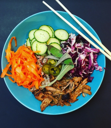 Bahn Mi Bowl Recipe with Pork Loin