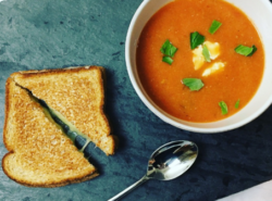 Healthy Creamy Tomato Basil Soup