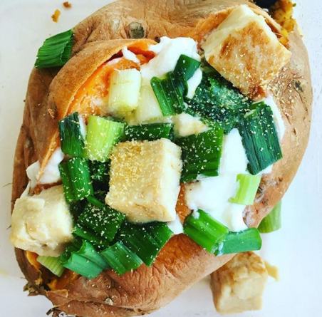 Healthy Stuffed Sweet Potato