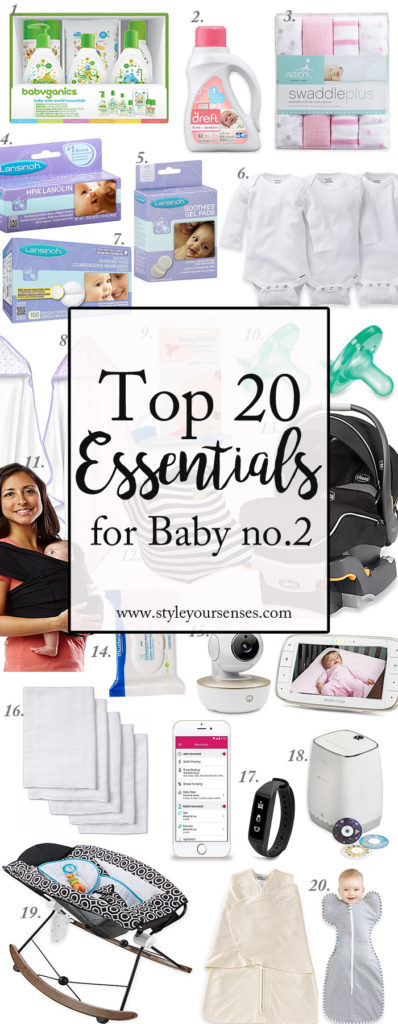 Top 20 Essentials for new Baby Graphic