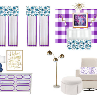 Bright and Bold Baby Girl Nursery Design
