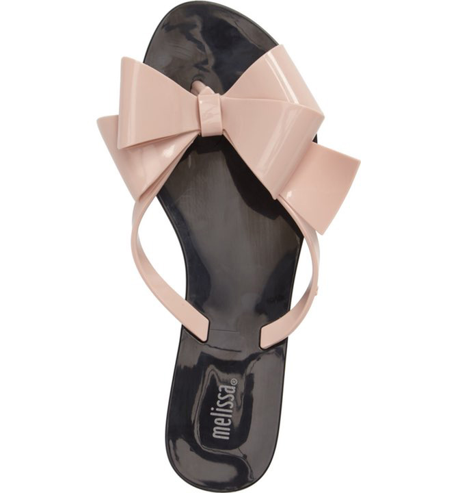 bow jellie sandals