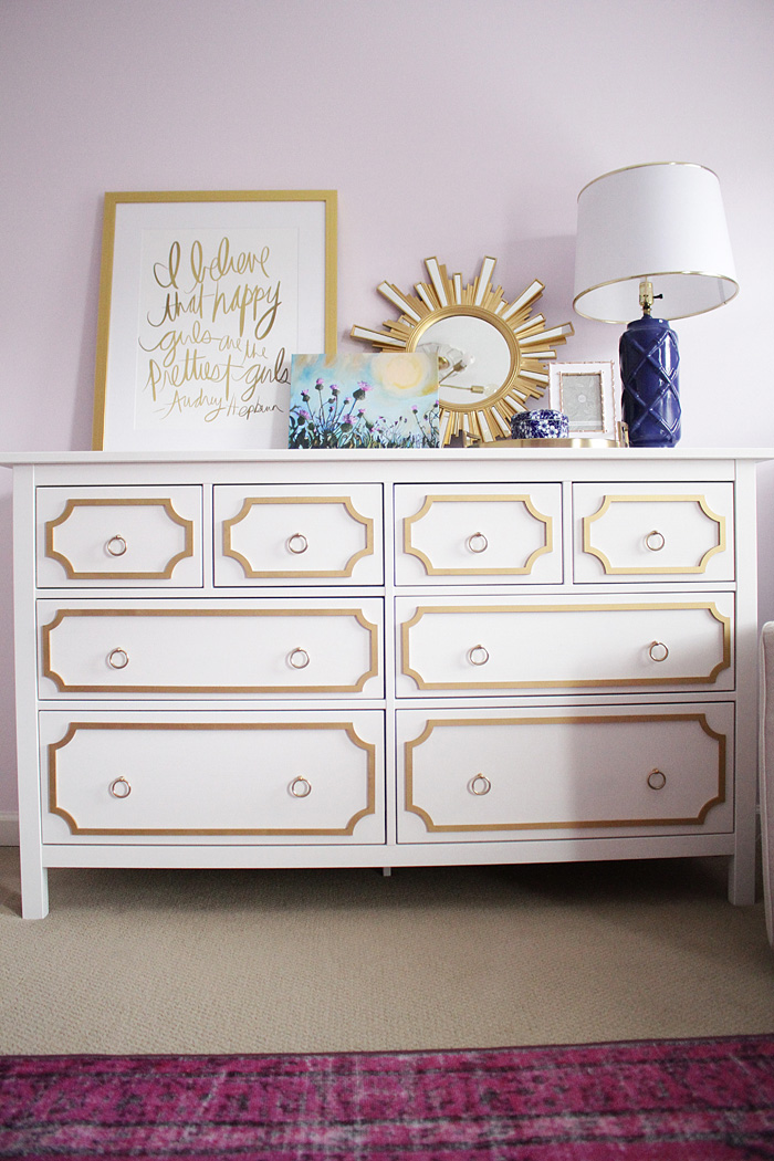 DIY Ikea Hack using O'verlays on the Hemnes 8 drawer chest featured by popular Texas lifestyle blogger, Style Your Senses
