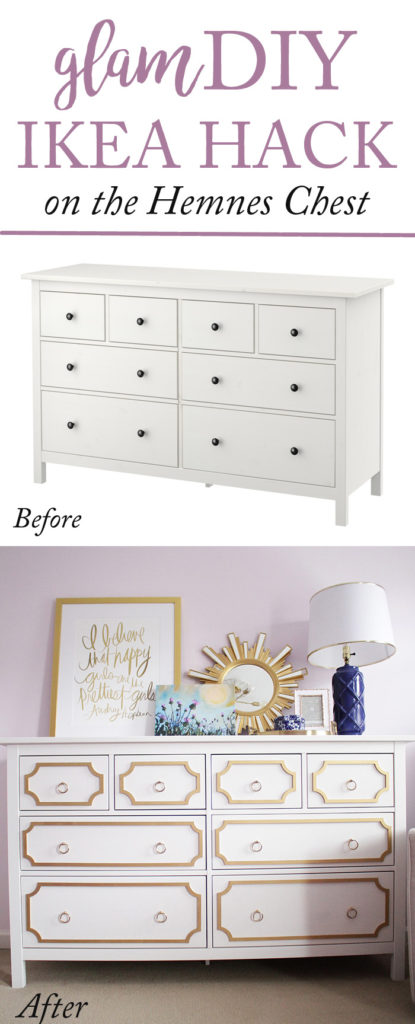 DIY Ikea Hack Using Ou0027verlays On The Hemnes 8 Drawer Chest Featured By  Popular