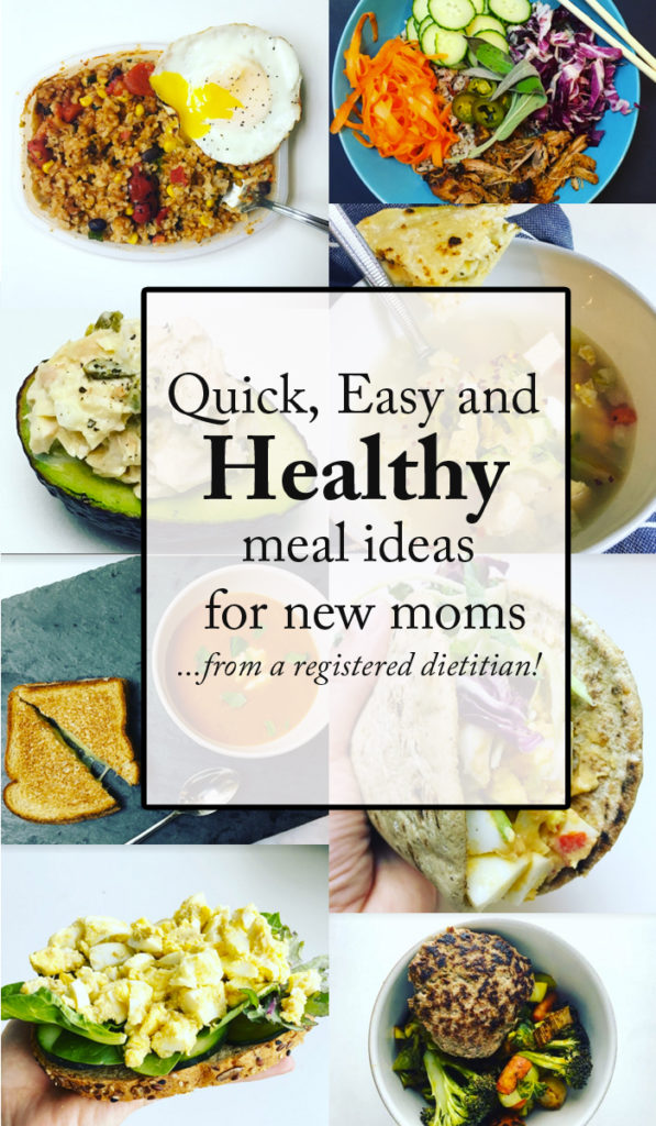 quick easy and healthy meal ideas GRAPHIC