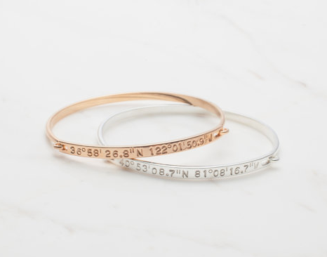 Corrdinates bangle as a push present