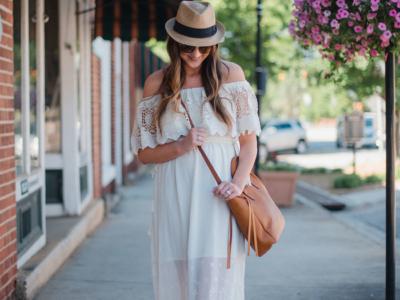 White Lace Dress + Postpartum Confidence