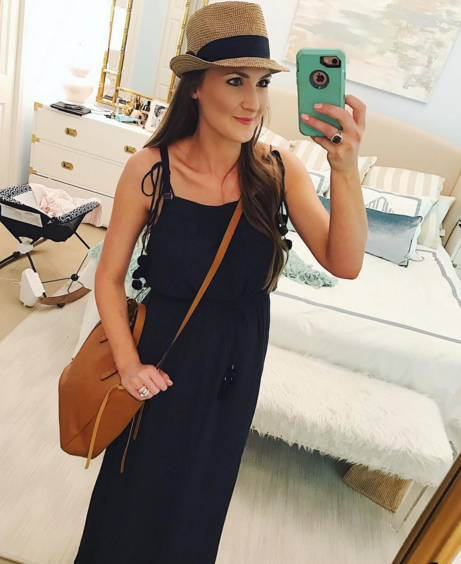 Black pom pom maxi dress is a great summer staple