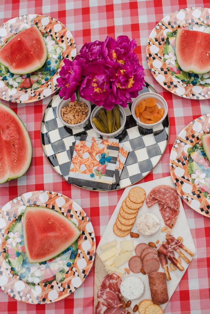 MacKenzie-Childs Courtley Check Serving Platter