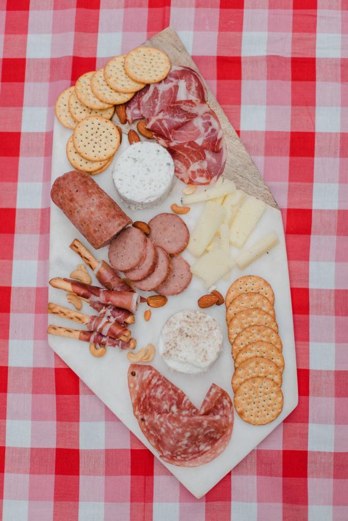Dairy dress charcuterie platter
