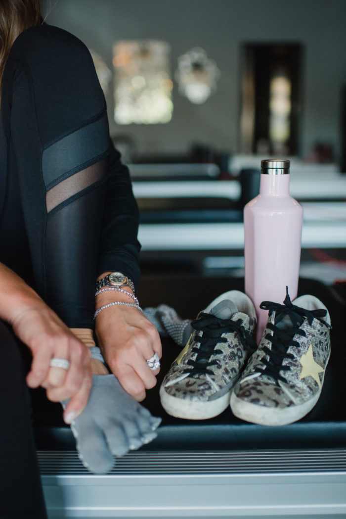 Golden Goose Sneakers and Alo Leggings