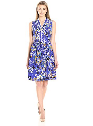 Lark and Ro Tie Neck Dress for Prime Day
