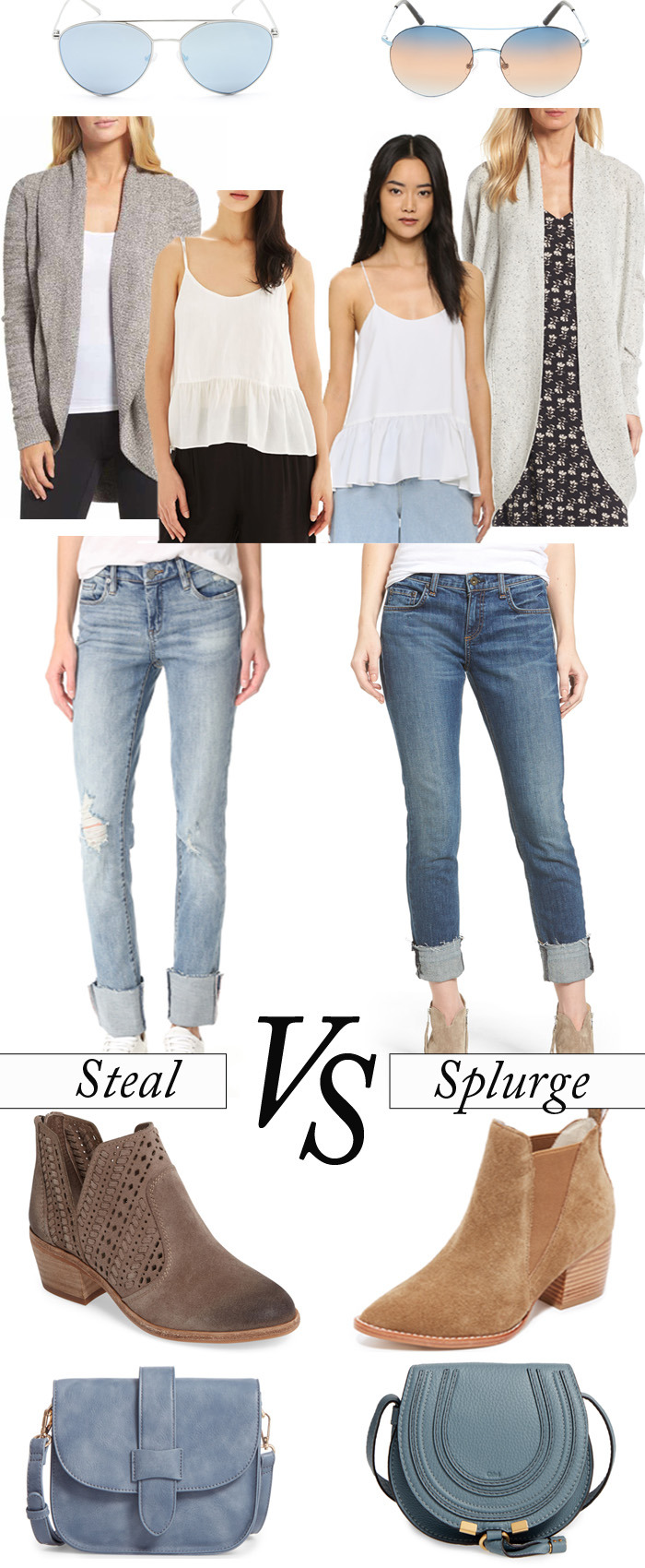Style Board Series Casual Transition Splurge vs Steal