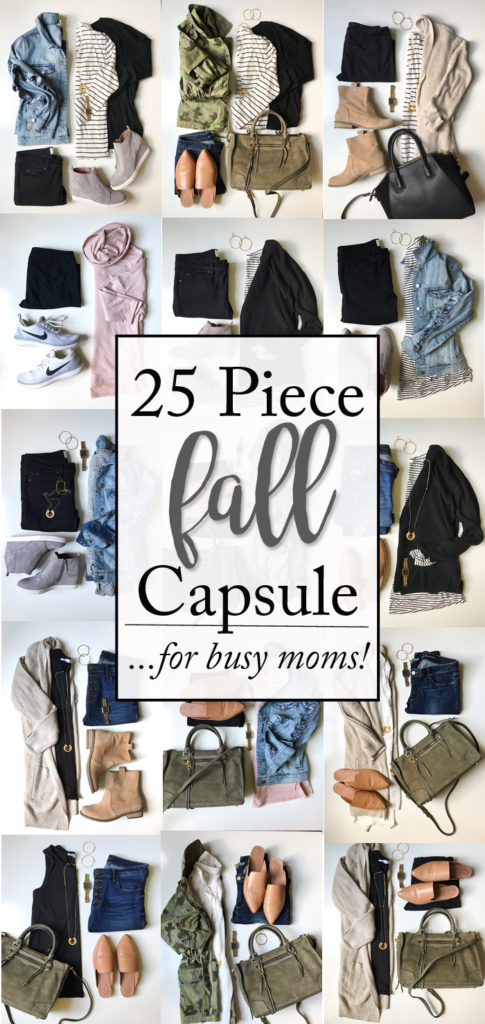 Fall Capsule Wardrobe for busy moms | 25 super functional, comfortable and affordable pieces that make endless Fall outfit combinations! - Fall Capsule Wardrobe for busy moms featured by popular Texas style blogger, Style Your Senses