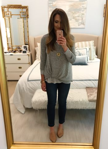 Fall Capsule Wardrobe for busy moms featured by popular Texas style blogger, Style Your Senses | Lightweight sweater for Fall styled two ways with Nordstrom | Cute Fall Sweater Styled Two Ways featured by popular Dallas fashion blogger Style Your Senses