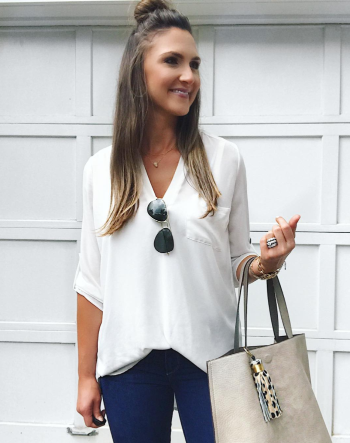 casual mom style outfit