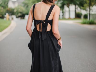 Mom Style Monday | Black Maxi Dress + Weekend Recap