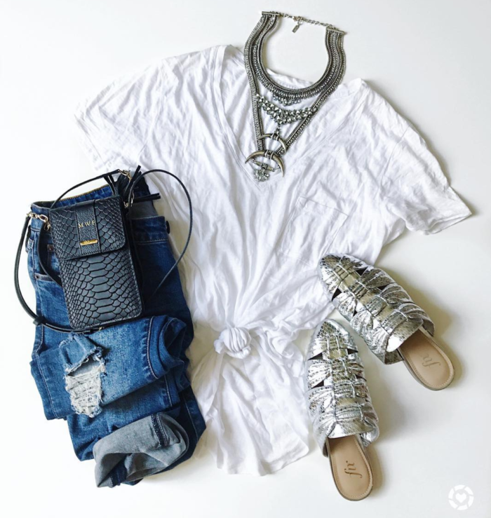 How to dress up a white tee