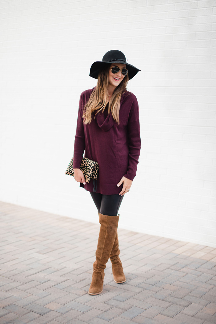 Ideas on how to style Spanx leggings for Fall - The Best Fall Tunics with Leggings Looks + What to Wear Them With featured by popular Dallas fashion blog, Style Your Senses
