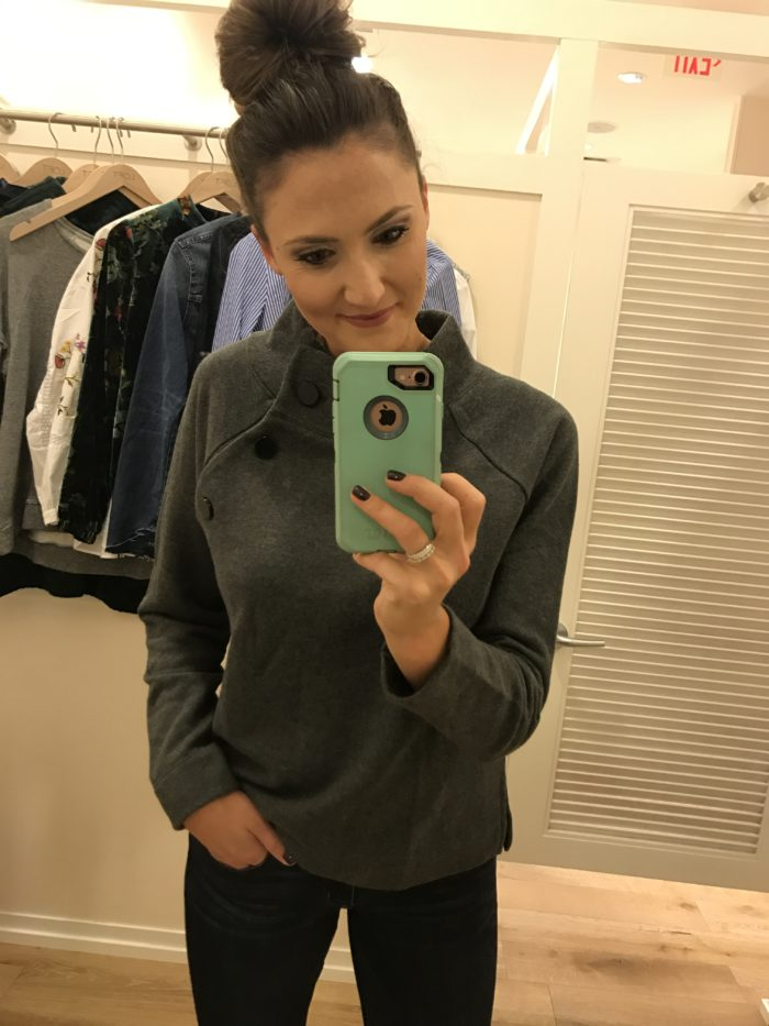 Loft favorites | Button sweatshirt