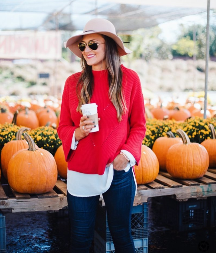 Loft red sweater