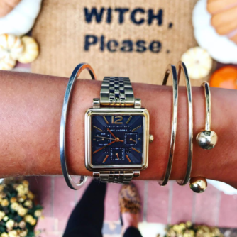 Marc Jacobs watch + Fall Porch Decor