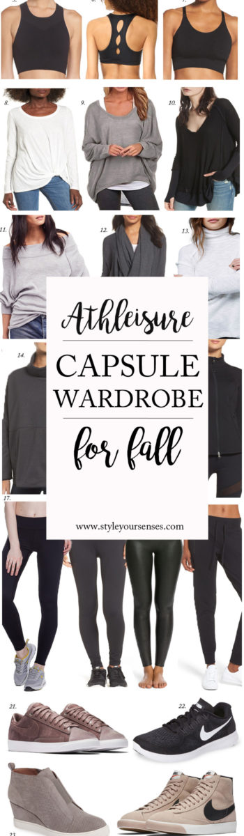 Athleisure capsule wardrobe for Fall