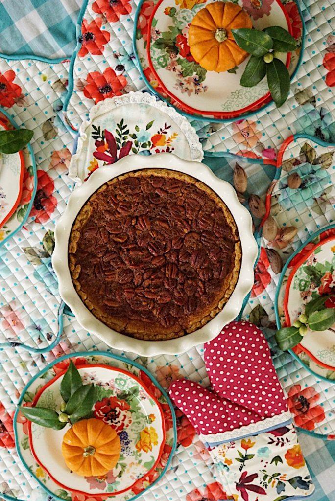 The easiest homemade pecan pie reci[e