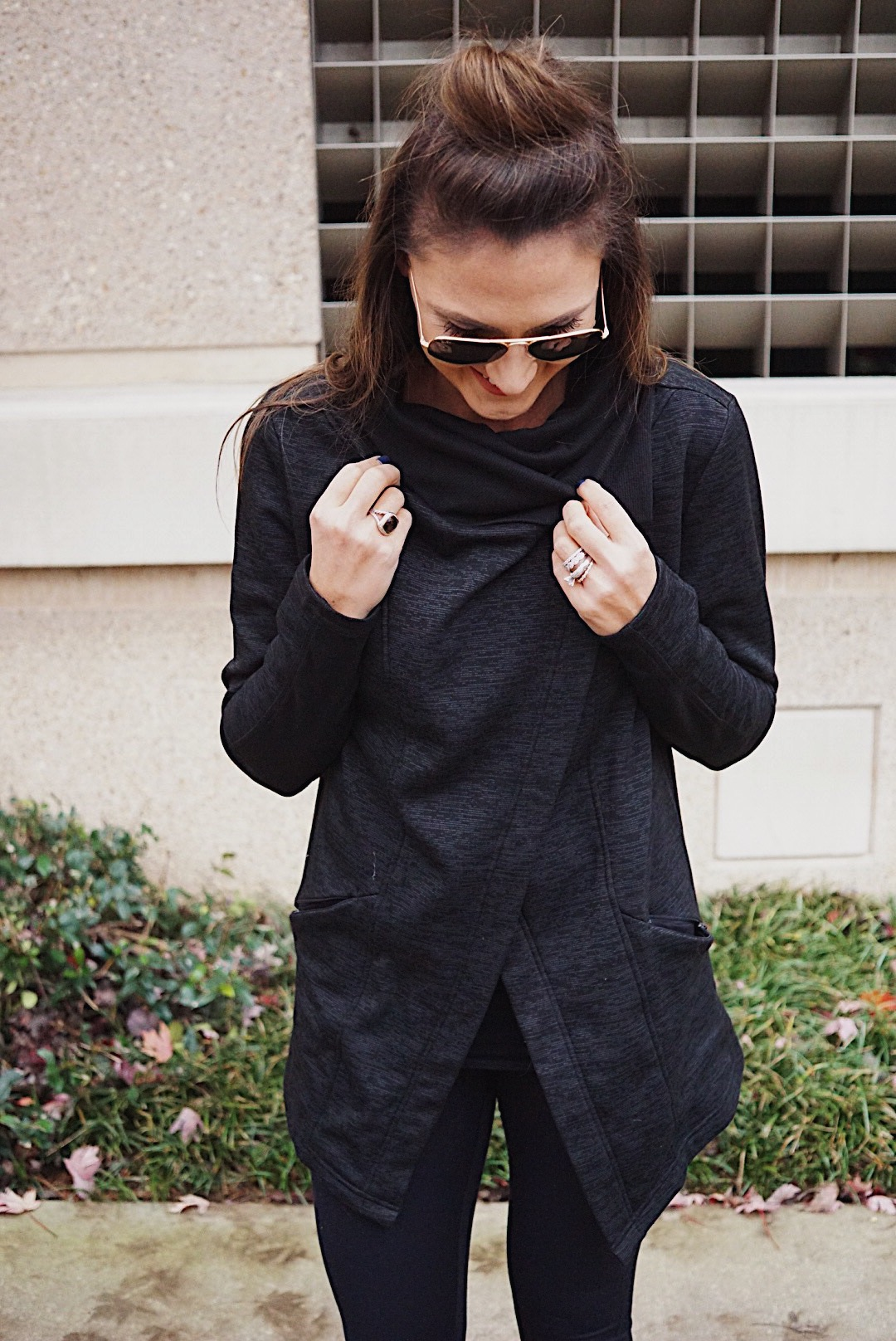 Winter athleisure tops for busy moms