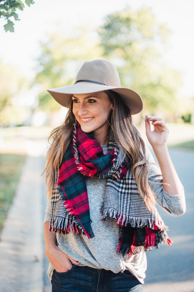 Plaid Scarf for the Holidays 3
