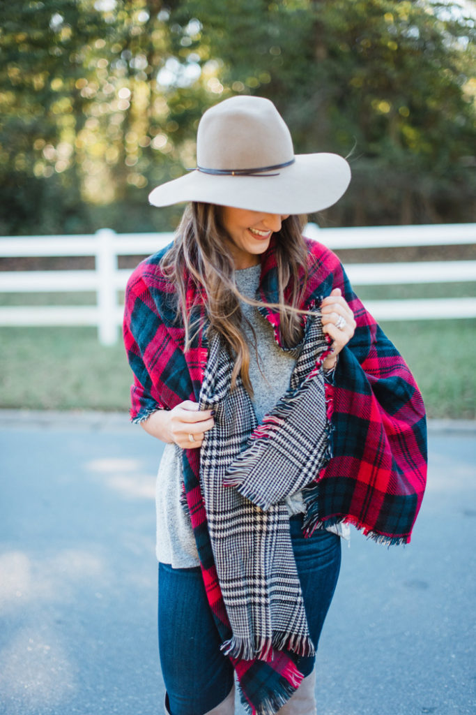 Plaid Scarf for the Holidays 4
